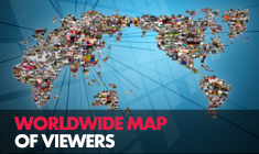 Worldwide map of Viewers