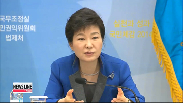 President Park calls for deregulation to stimulate economic growth