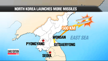 North Korea fires two short-range missiles, second such launch in less than a week