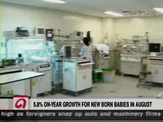 Newborns in Korea Increase for 6th Striaght Month