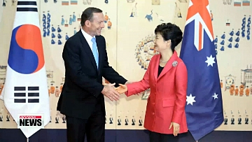 Leaders of Korea, Australia sign FTA, discuss stronger security cooperation