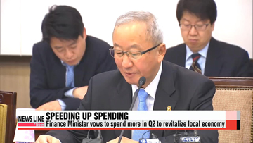 Korea finance minister vows to spend more in Q2 to revitalize economy