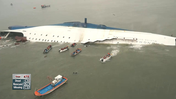Latest on ferry sinking off Korea's southwestern coast; 9 confirmed dead, 287 missing