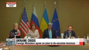 Foreign Ministers agree on plan to de-escalate tensions in Ukraine