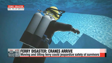 Ferry disaster: At least one month to lift vessel out of water