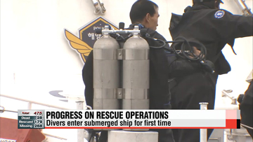 Divers enter hull; apology given over earlier conflicting reports