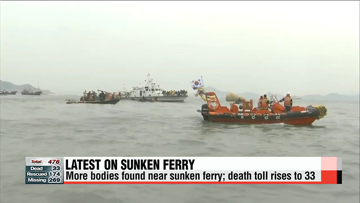 Aditional body found near sunken ferry; death toll rises to 33
