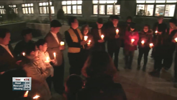 Candle light vigil held with hope