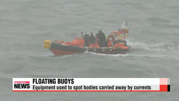 Floating buoy used to spot bodies being carried away