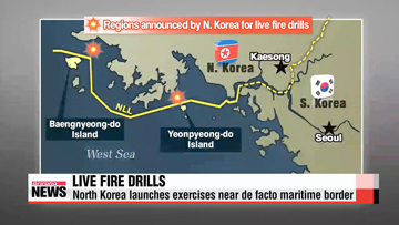 North Korea conducts live fire drills near de facto maritime border