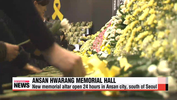 Grief pours out at Ansan Hwarang Memorial Hall