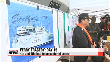 Sewol-ho ferry tragedy: Day 15