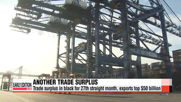 Balanced export growth in most sectors lead to trade surplus for 27th month