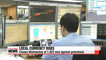 Korean won rises to highest level against greenback in 5 years
