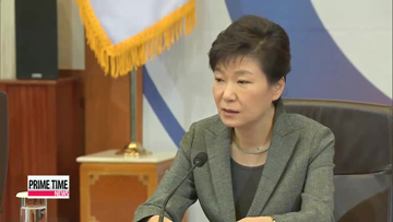 President Park addresses nation's livelihood after ferry disaster
