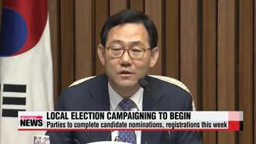Ruling, opposition parties to complete candidate nominations, registrations for local elections this week