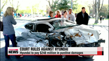 U.S. jury orders Hyundai Motor to pay $248 million in punitive damages