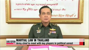 Thai army chief to meet with political rivals