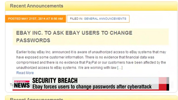 Ebay forces users to change passwords after cyberattack