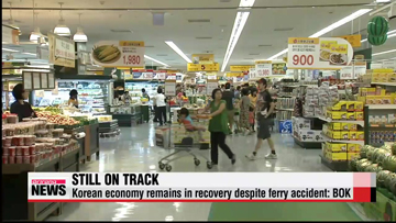 Korean economy recovering despite ferry accident