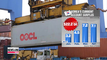 Korea posts current account surplus for 26th straight month in April