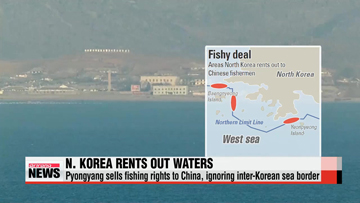 North Korea rents waters south of inter-Korean border to China
