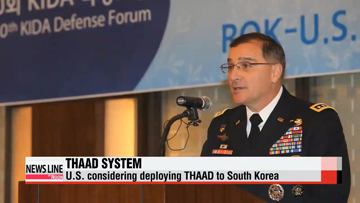 U.S. considering deploying THAAD system to South Korea