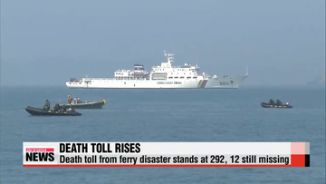 Death toll from ferry disaster rises to 292 after two more bodies recovered