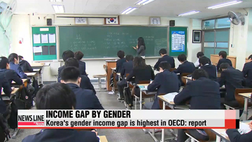 Korea's income gap between male and female workers is highest among OECD countries