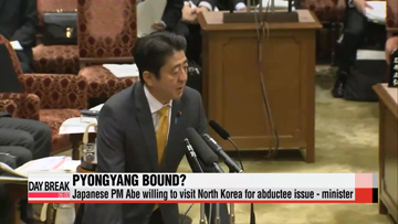 Japanese PM Abe willing to visit North Korea for Japanese abductee issue