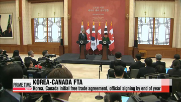Korea, Canada initial free trade agreement