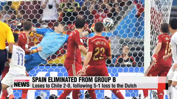 Defending champions, Spain eliminated from Group B
