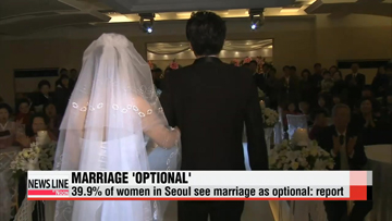 40% of women in Seoul see marriage as optional