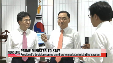 President Park decides to retain prime minister