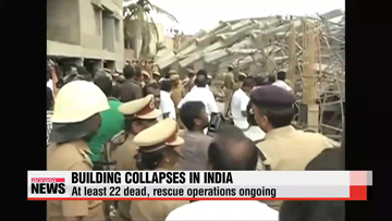 Rescue effort underway in two building collapses in India