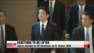 Japan decides to lift sanctions on N. Korea