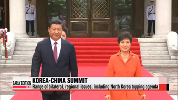 Leaders of Korea, China discuss North Korea, FTA in Seoul