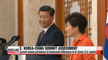 S. Korea-China summit reveals fundamental differences on North Korea: U.S. experts
