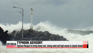 Typhoon advisory issued on Jeju island as Neoguri heads north