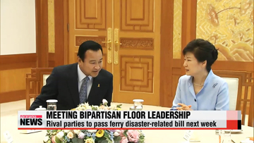 President Park meets floor leadership of ruling, opposition parties