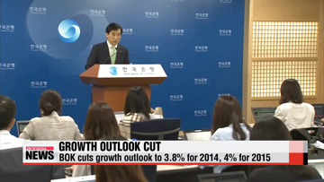 Korea's central bank cuts growth outlook for this year to 3.8%