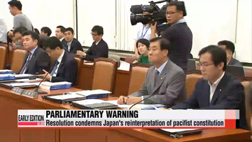 Parliamentary committee adopts resolution on Japan's military moves