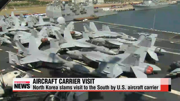 North Korea slams visit to the South by U.S. aircraft carrier