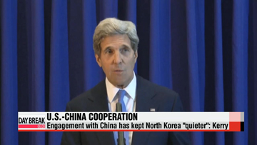 Engagement with China has kept North Korea 'quieter': Kerry