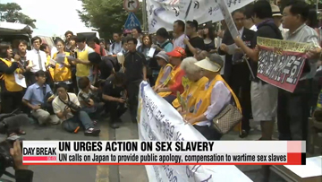 UN human rights panel calls on Japan to provide public apology and compensation to its wartime sex slavery victims