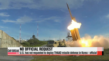 U.S. has not requested to deploy THAAD missile defense in Korea - official