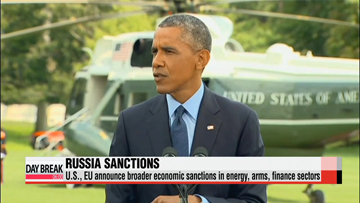 U.S., EU announce widened sanctions against Russia