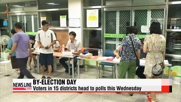 By-election day: Voters in 15 districts head to polls this Wednesday