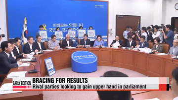 Rival parties wait for first election results to come in