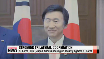 S. Korea, U.S., Japan agree to expand cooperation against N. Korean threats